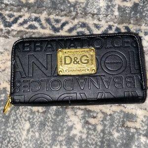 Dolce & Gabbana double zip wallet